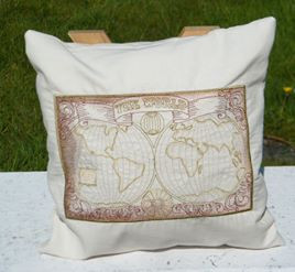 Embroidered gifts world map cushion gumiabroncs Images