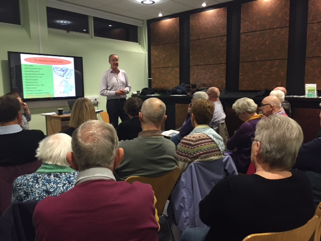 Geoff Brown, Macmillan Horizon Centre Manager, November 2015 meeting