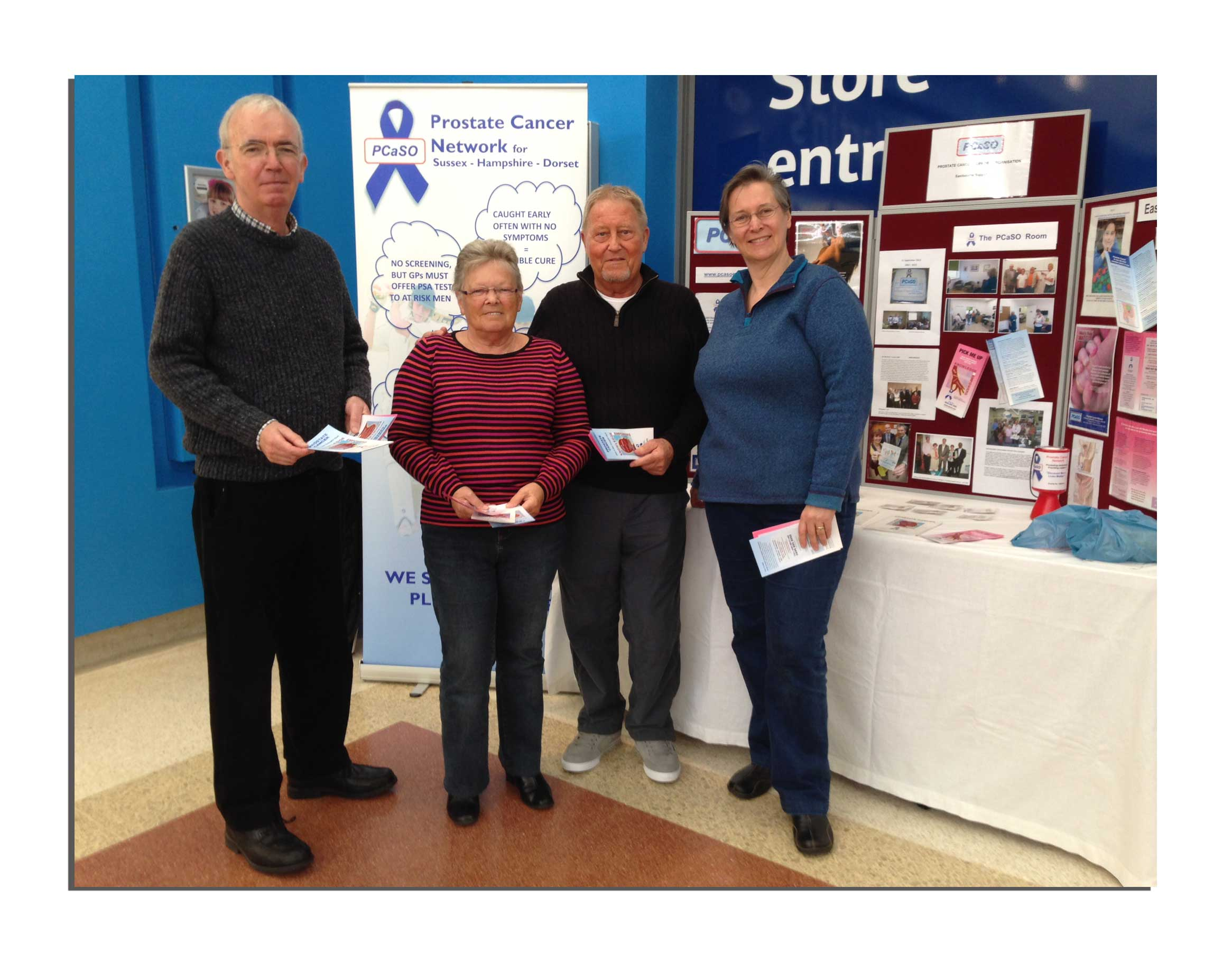 Awareness raising in the Langney shopping centre, Eastbourne