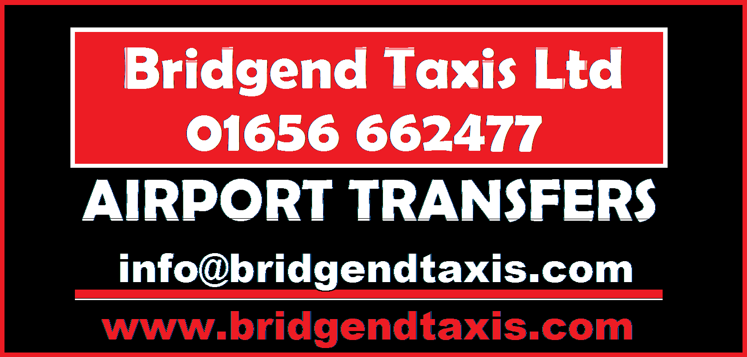 Bridgend Taxis Airport Transfers Advert