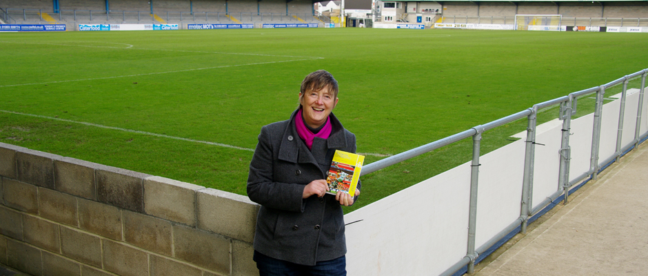 Laura Joint and map at Plainmoor