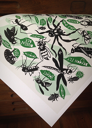 Bugs and Insects Alphabet Print