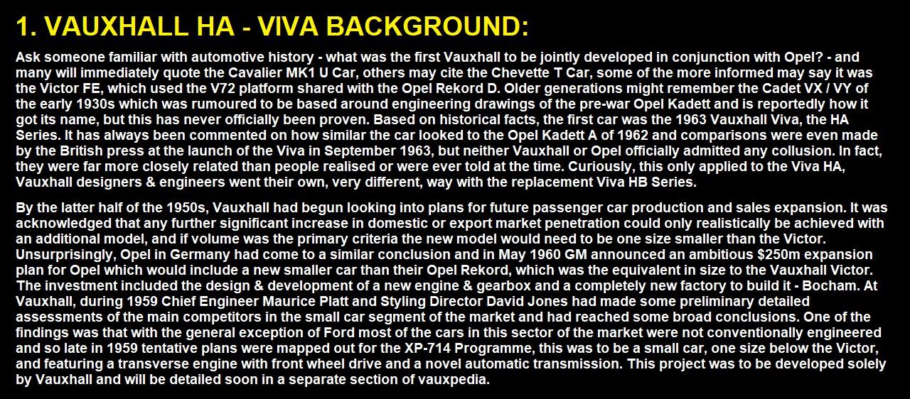 Vauxhall ha viva Www builder com