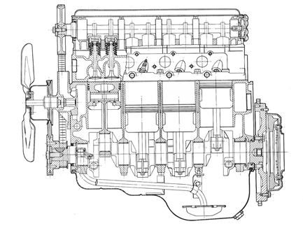 vauxhall the slant four engine story image description