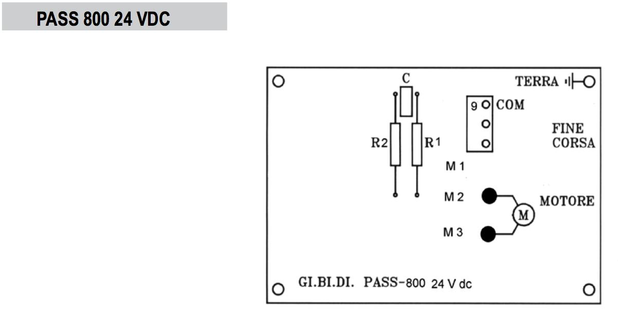 GIBIDI Pass 800-24vdc sliding gate motors
