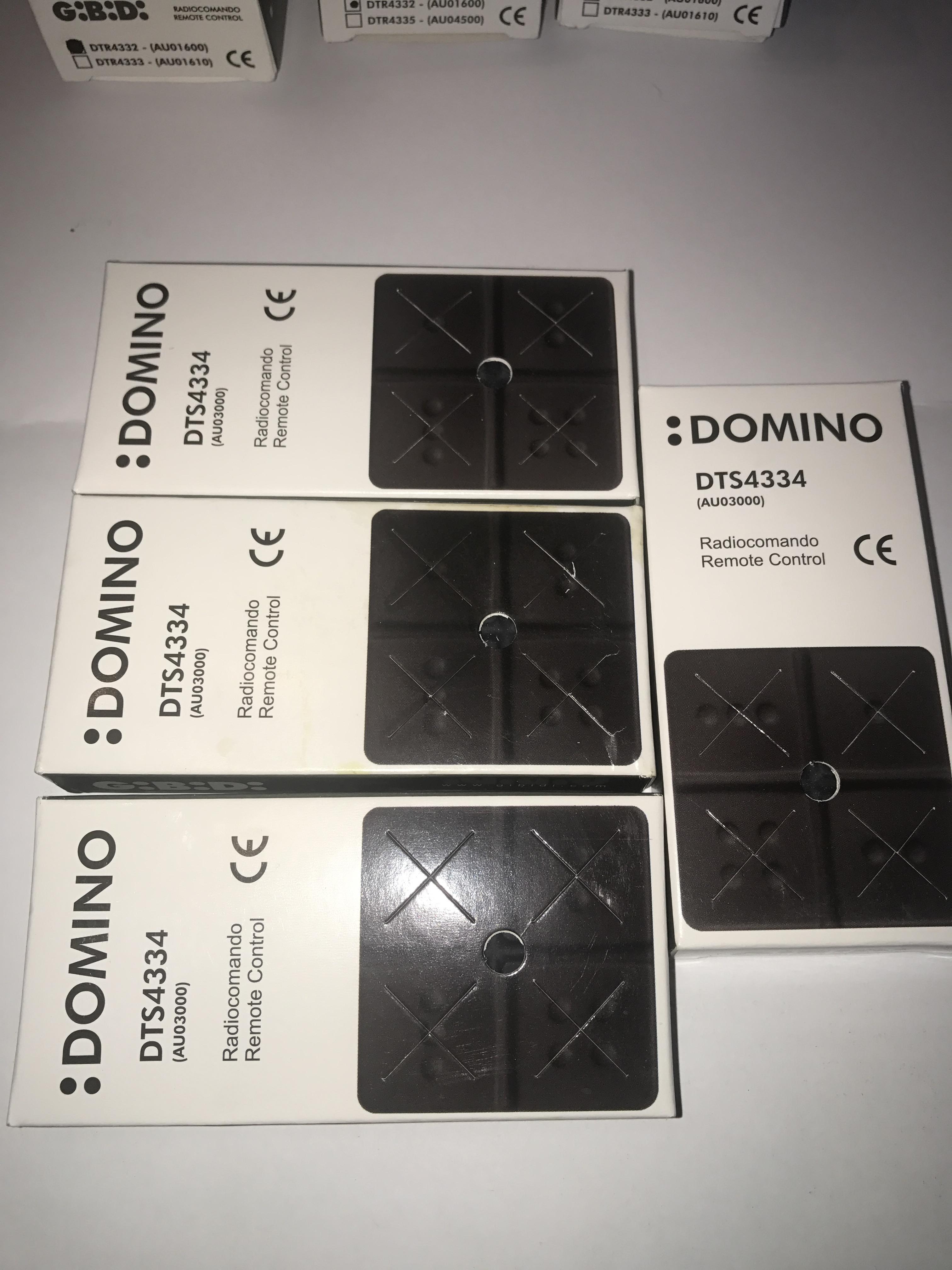 AU03000  4 x Domino Transmitter Gibidi Remote 4 Button