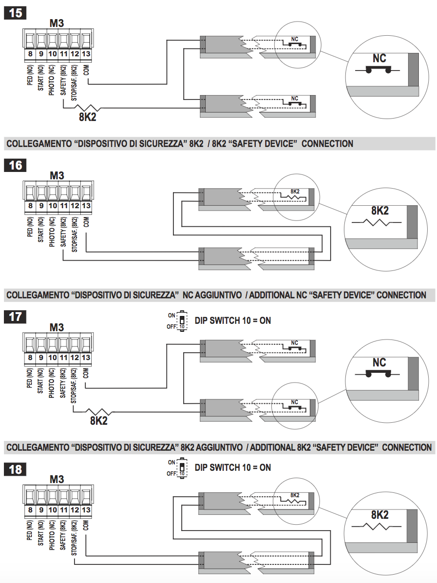 Gibidi Pdf Manuals Gate Switch Wiring Diagram Together With Electric Sliding Safety