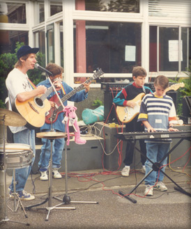 Early performance at school fete