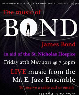 James Bond Charity Flyer
