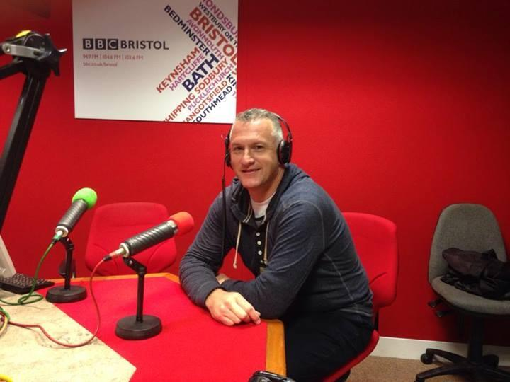 Ian being interviewed on BBC Radio Bristol
