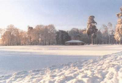 Holmbury Cricket Club in Winter