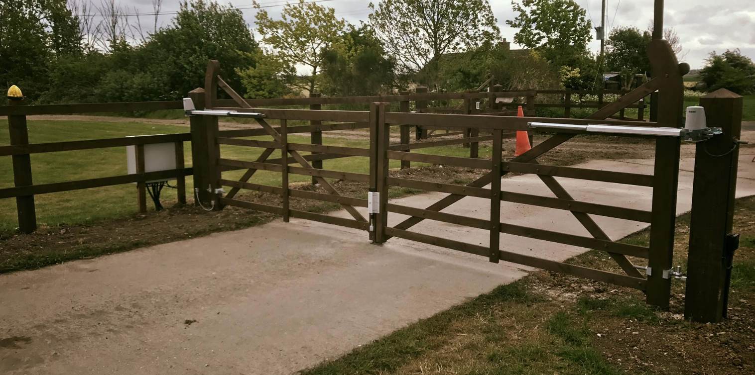 Double five bar gate and single five bar gate installed in mundon Essex
