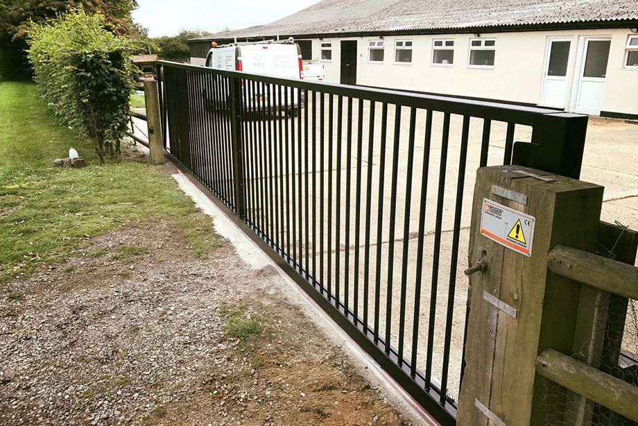 Sliding gate installation in Hutton Essex 8mtr sliding gate system