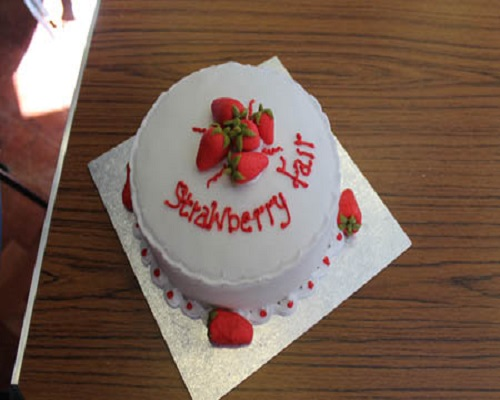 Strawberry Fair Cake