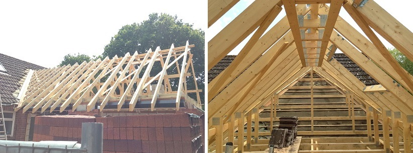 Attic Truss Roof Installation