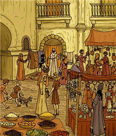 Market in Al-Andalus