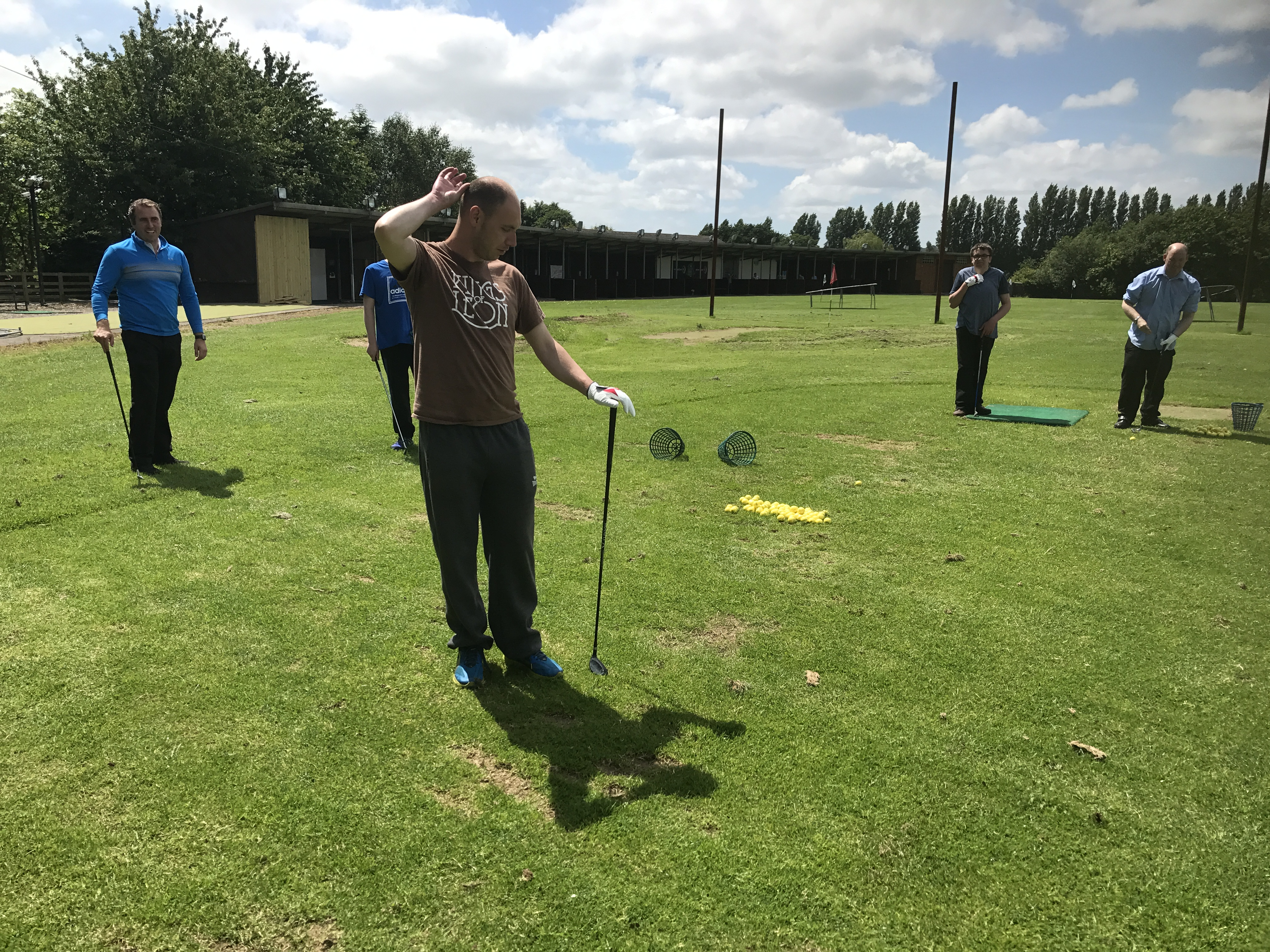 A Difficult Shot on the Pitch and Putt