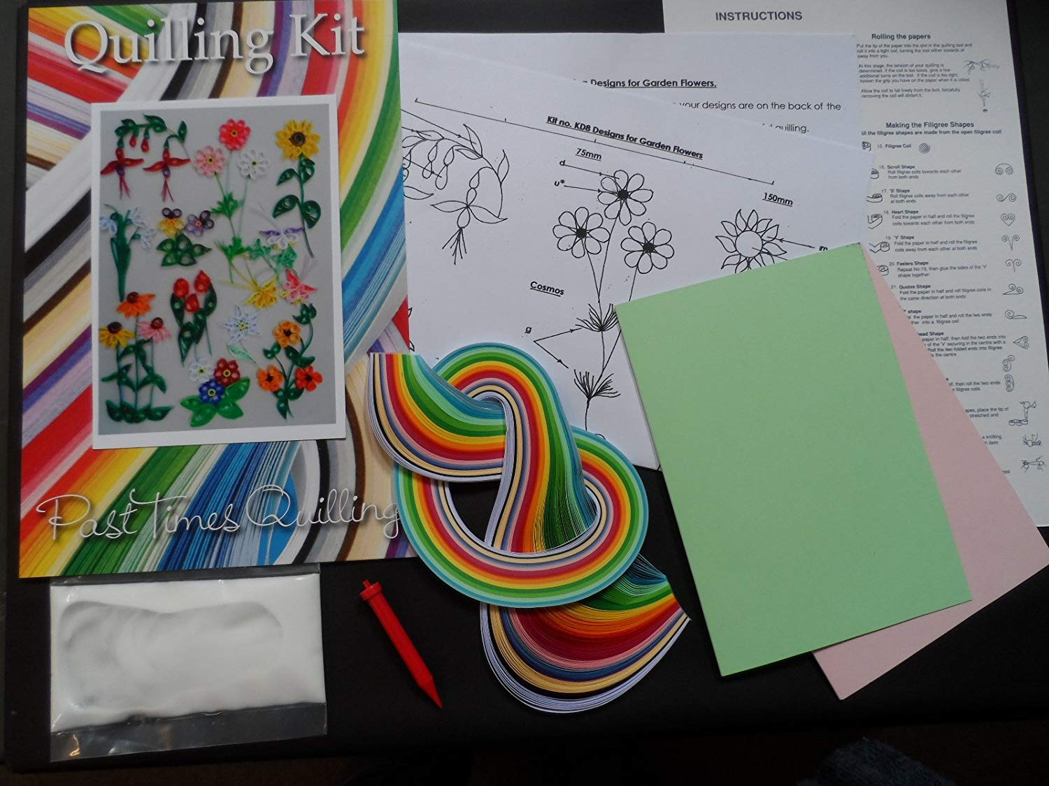 Quilling Kit - Designs for Garden Flowers