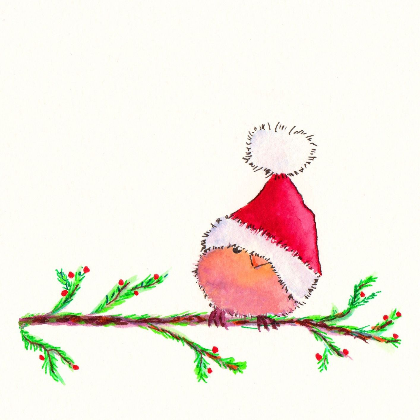 Christmas card: Little Bird