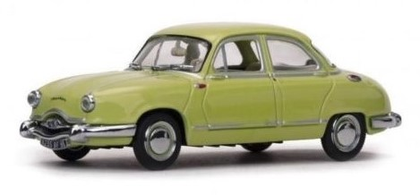 1954 PANHARD DYNA Z1 LUXE SPECIAL in Pale Yellow - 1:43 Scale Car Die-cast Model Vitesse 23593