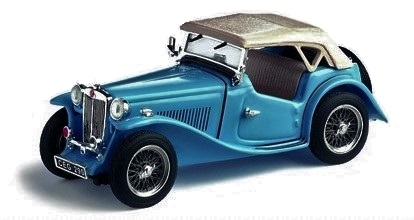 MGTC CABRIO Roof Up in Clipper Blue - 1:43 Scale Classic Car Die-cast Model Vitesse 29161