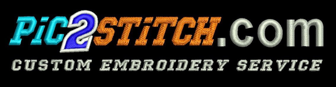 Pic2Stitch custom embroidery & digitizing service, high quality logo embroidered or printed clothing workwear & uniform, T-shirts, polos, hoodies, fleeces, jackets, hats, & badges, embroidery machine designs Essex UK