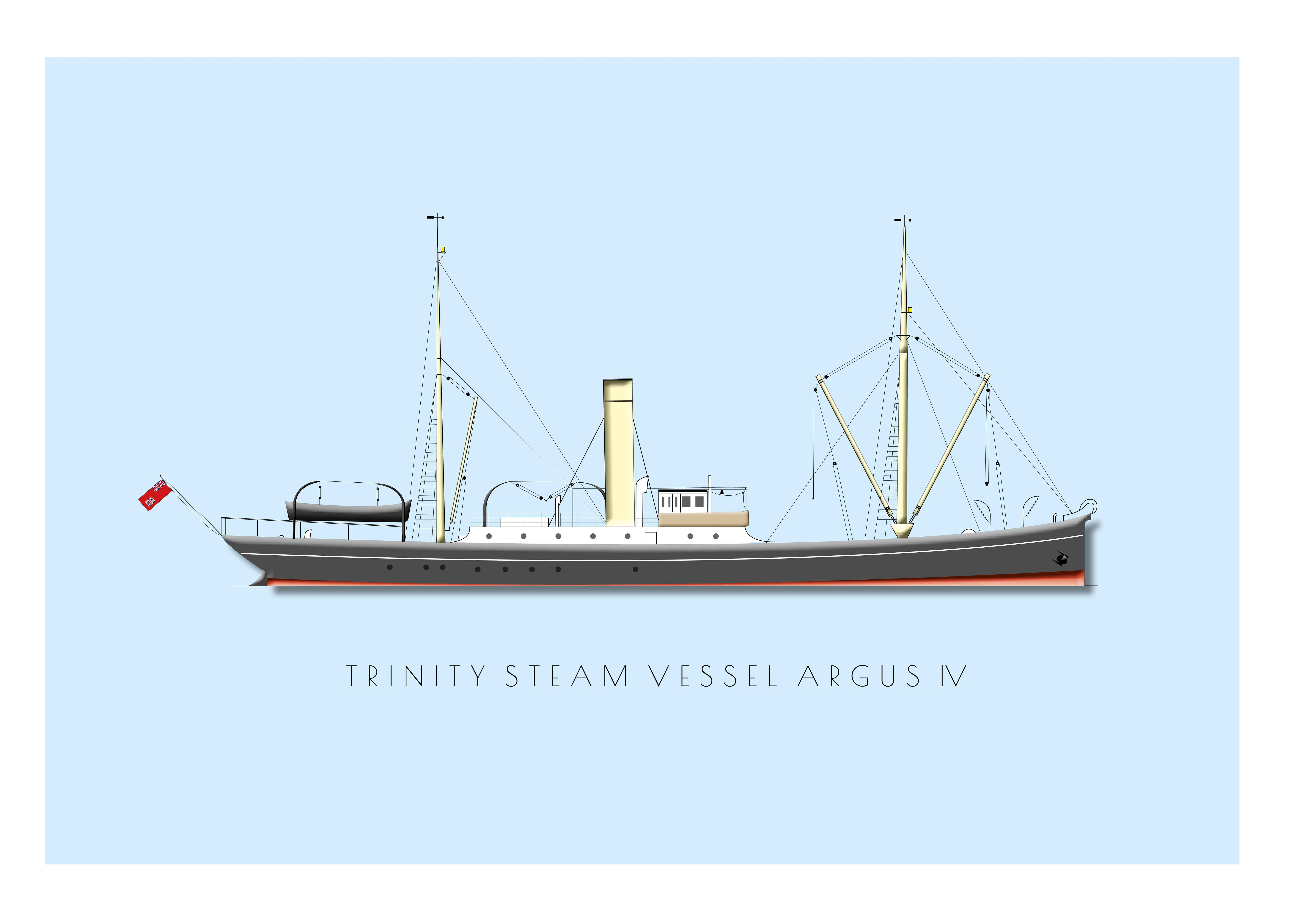 Trinity House Steam Vessel Argus - Postcard