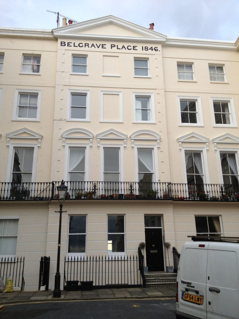 Belgrave Place, Brighton - Redecorated front of property