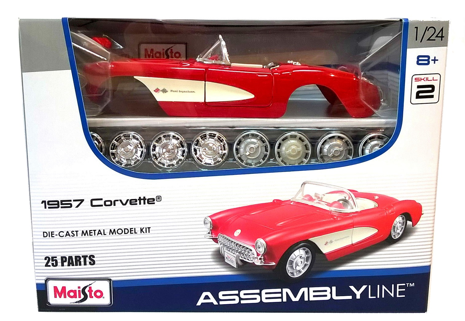 1957 CORVETTE - 1:24 Scale Die-Cast Classic American Car Model Kit Maisto