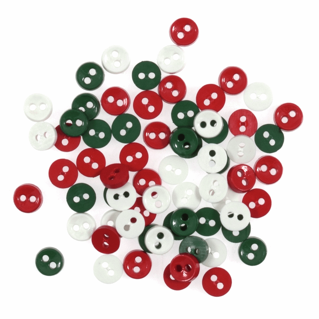 Button Assortments - Tiny Round, 7mm, Pk of 4g