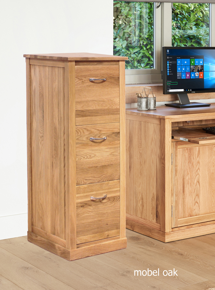 MOBEL - OAK 3 DRAWER FILING CABINET