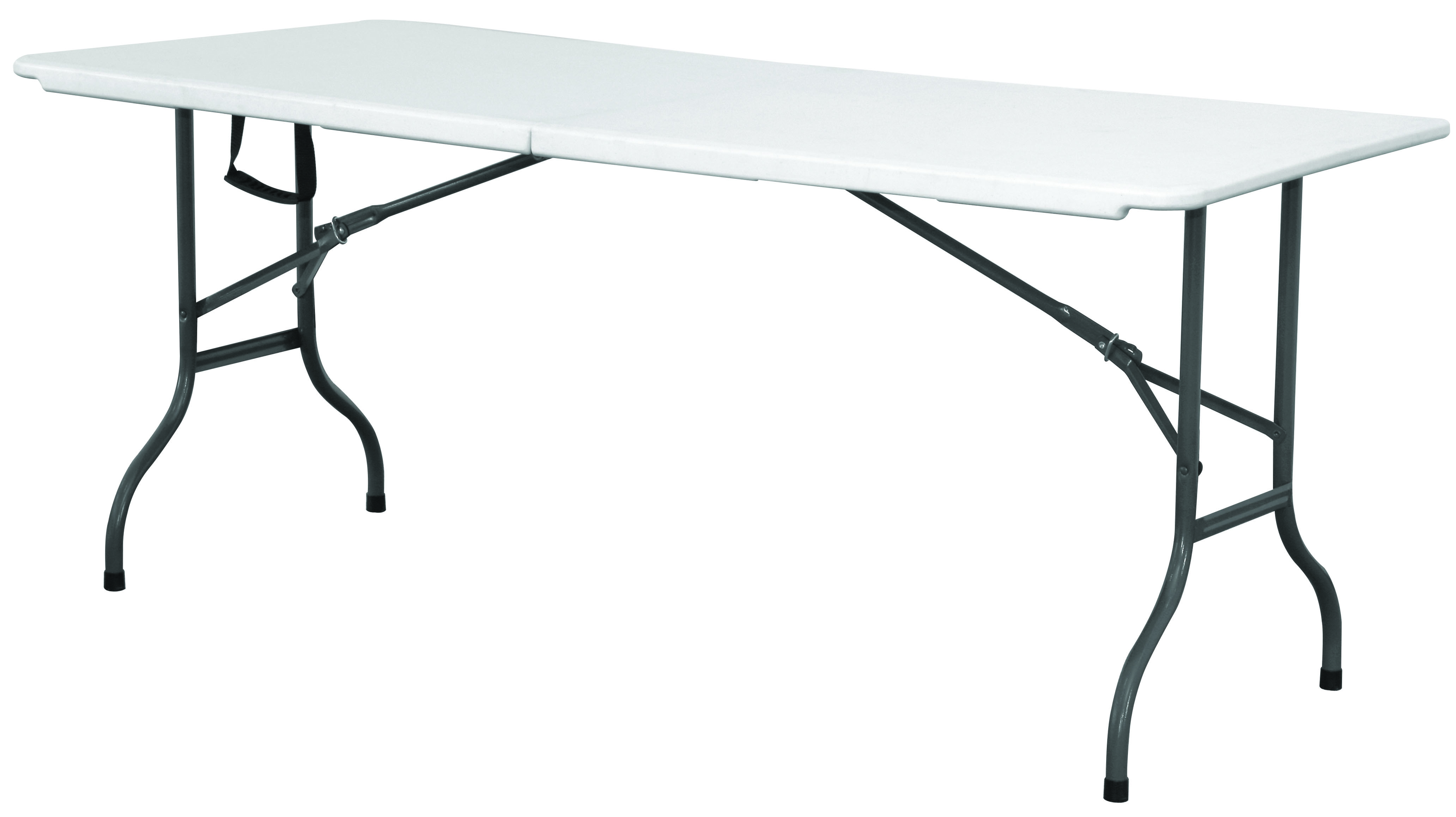 Centre Folding Table 6' White HDPE