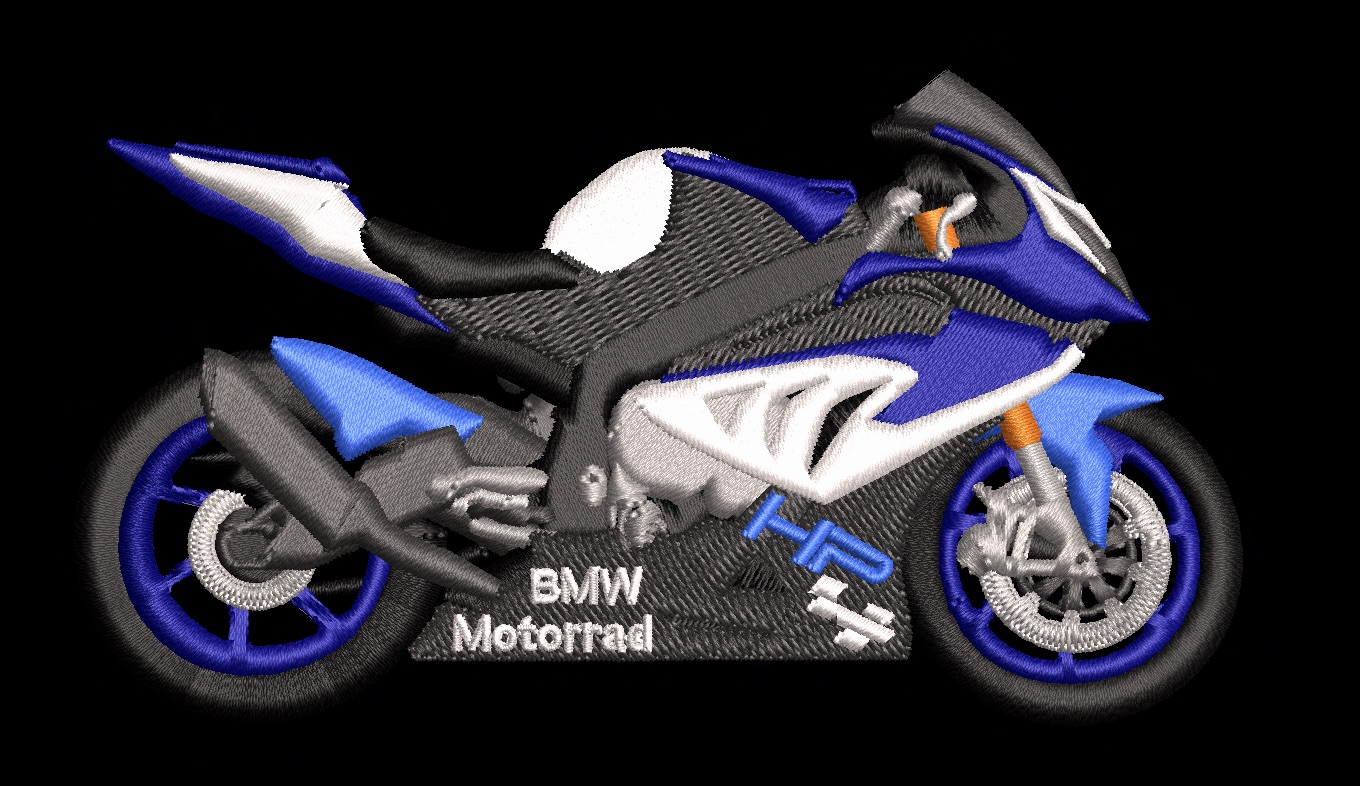embroidered bmw s1000  hp4 high quality embroidery service