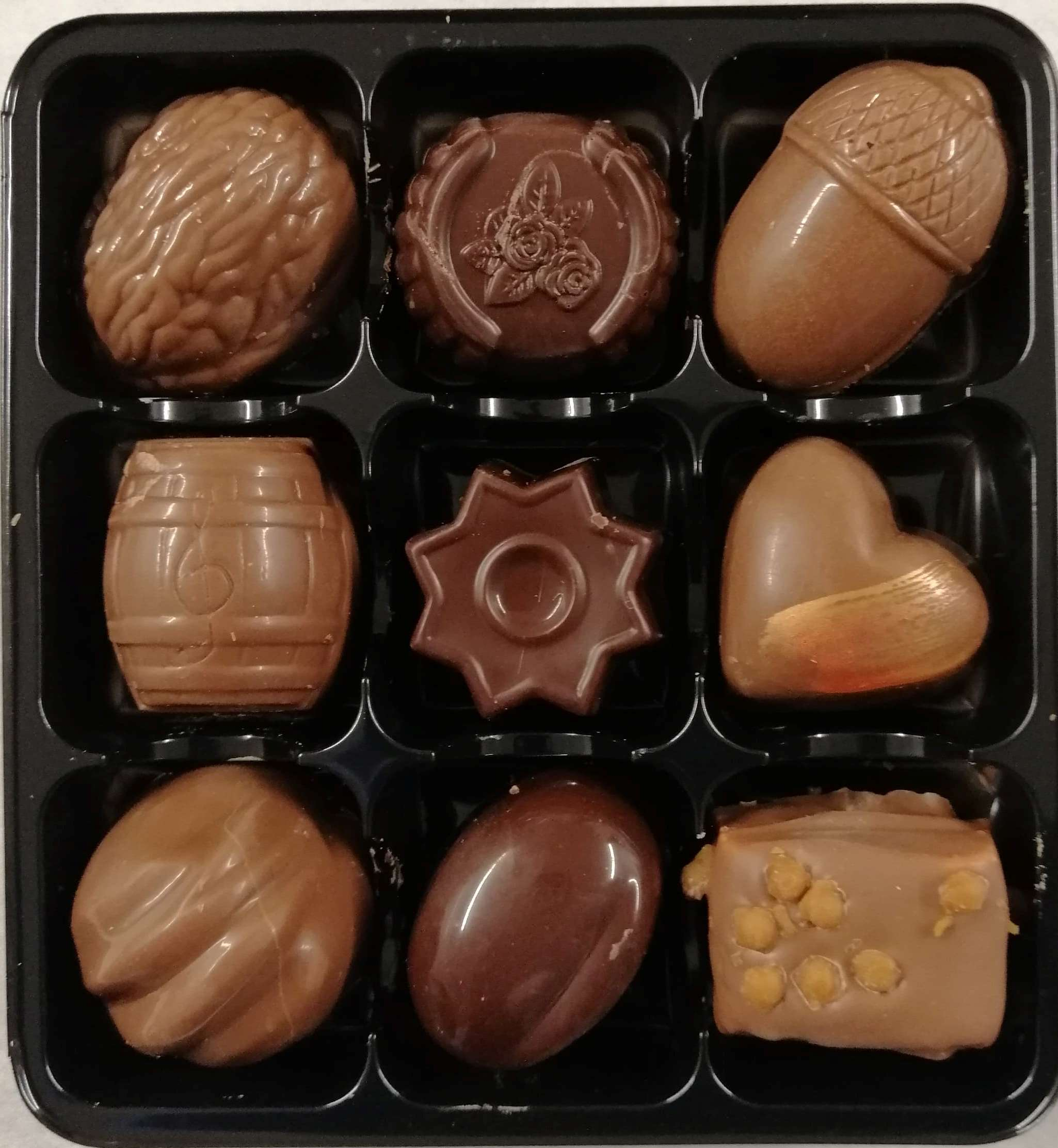9 CHOCOLATE BLACK LUXURY DRAWER BOX