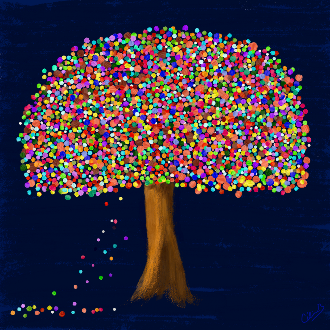 Multicolour Tree