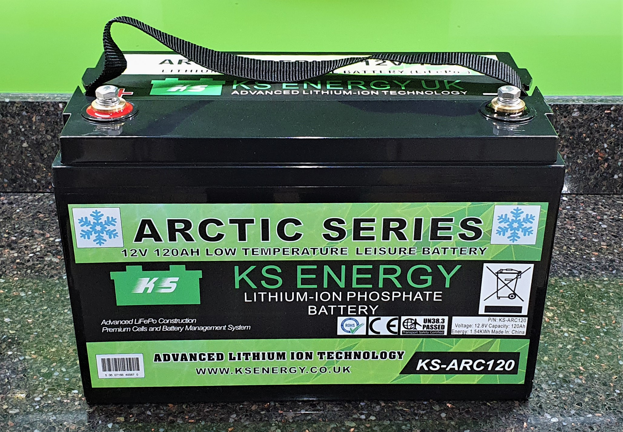 Model KS-ARC120 12V 120AH Ultra Low Temperature Arctic lithium leisure battery