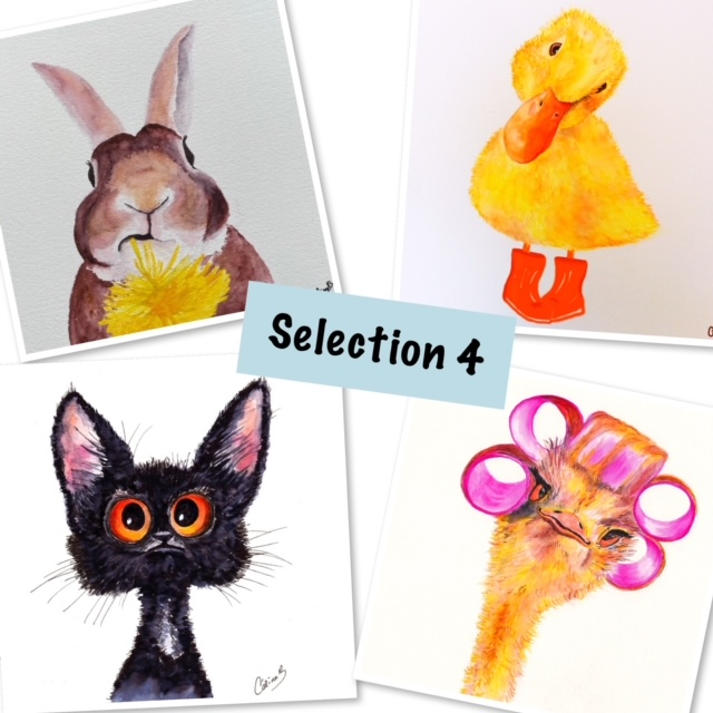 Cards selection packs: 4 cards for £10 with free P&P