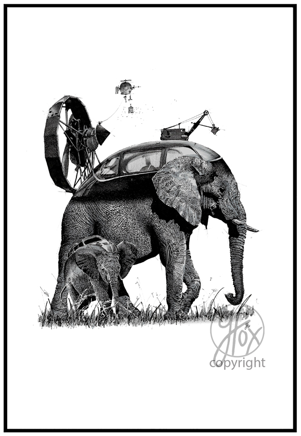 B. Bee Nice to Elephants (A3 Limited Edition 100)