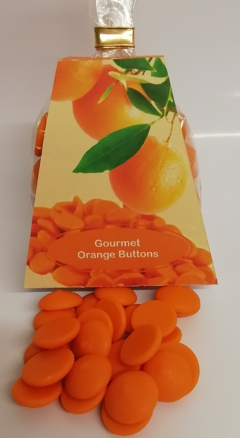 GOURMET ORANGE CHOCOLATE BUTTONS