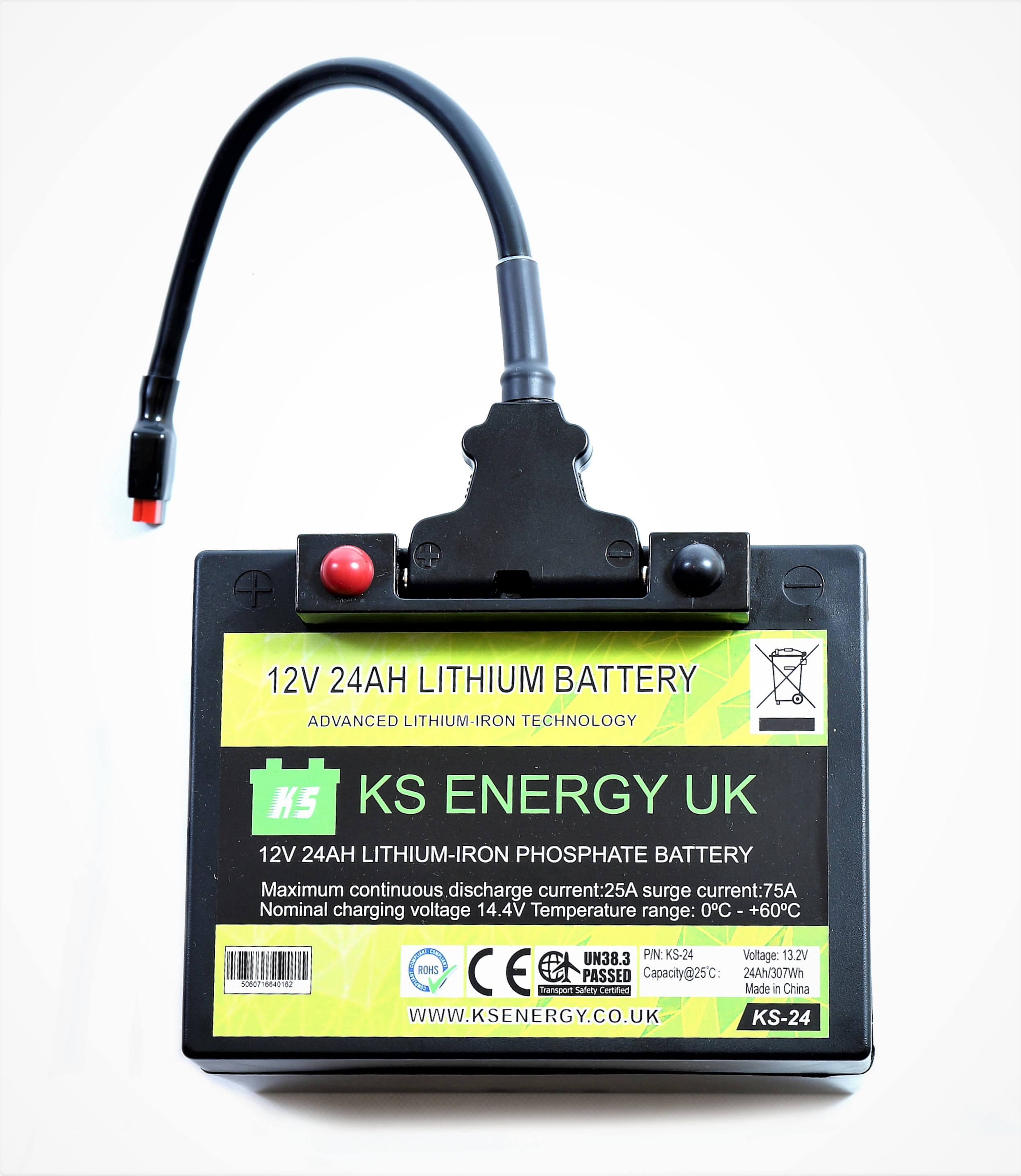 9b): KS-24 12v 24AH LiFePo4 lithium-iron LiFePo4 leisure battery