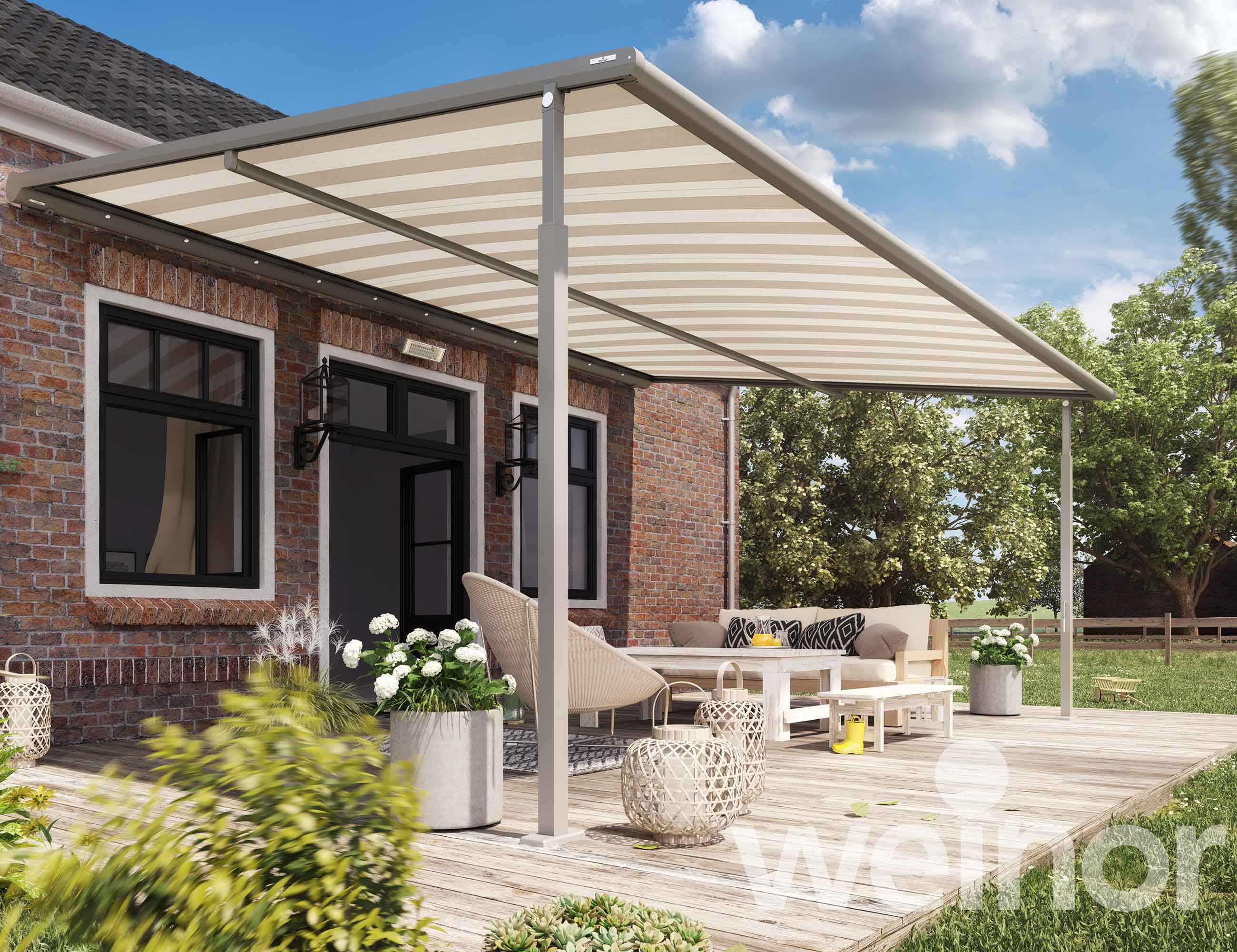 PLaza Viva structured awning