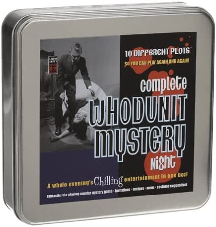 Complete WHODUNIT MYSTERY NIGHT Game By Lagoon Games New with 10 different plots