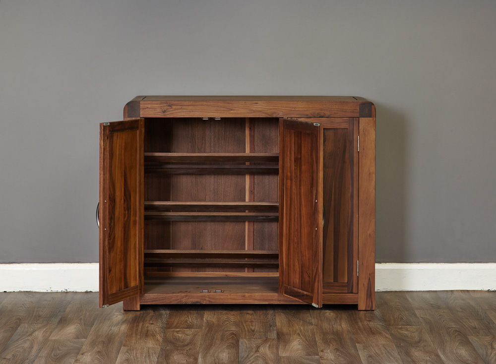 SHIRO - WALNUT EXTRA LARGE SHOE CUPBOARD