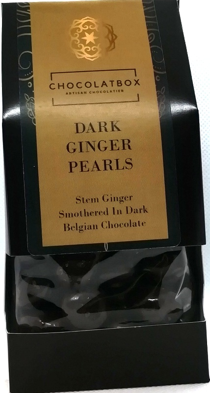 DARK CHOCOLATE GINGER PEARLS