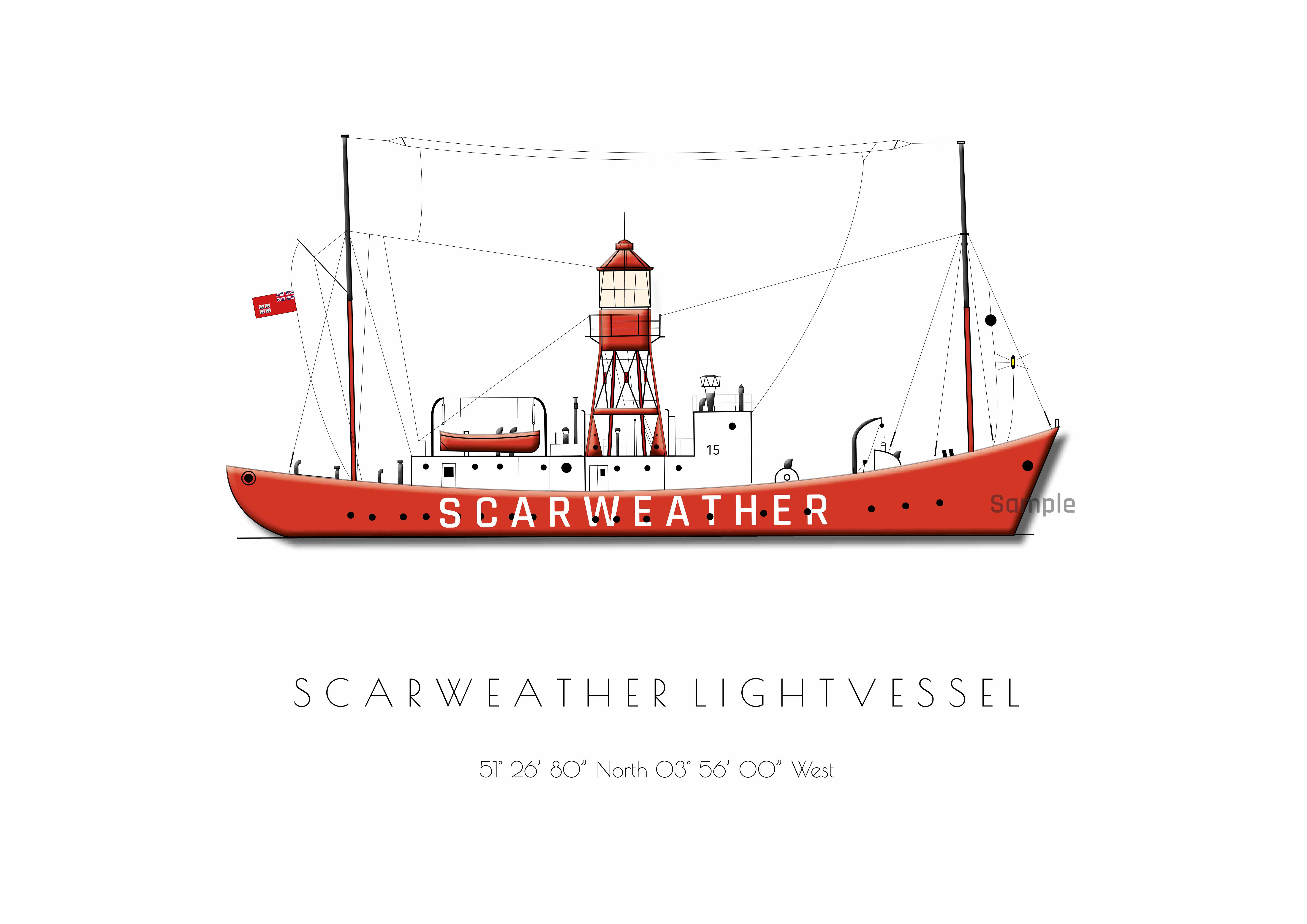 Lightship - single postcard - choose design