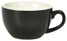 Genware Porcelain Bowl Shaped Cup 17.5cl/6oz Black