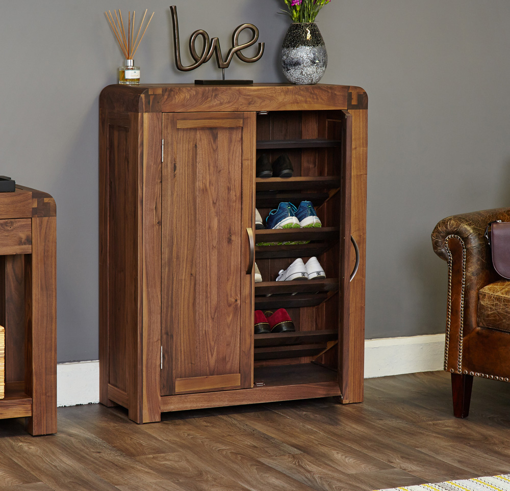 SHIRO - WALNUT SHOE CUPBOARD