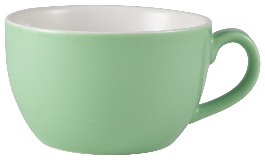 Genware Porcelain Bowl Shaped Cup 25cl Green