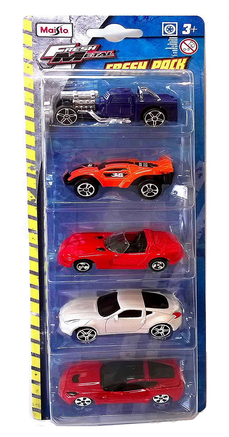 5 x CAR FRESH METAL PLAYSET - 1:64 Die-cast Model Cars by Maisto