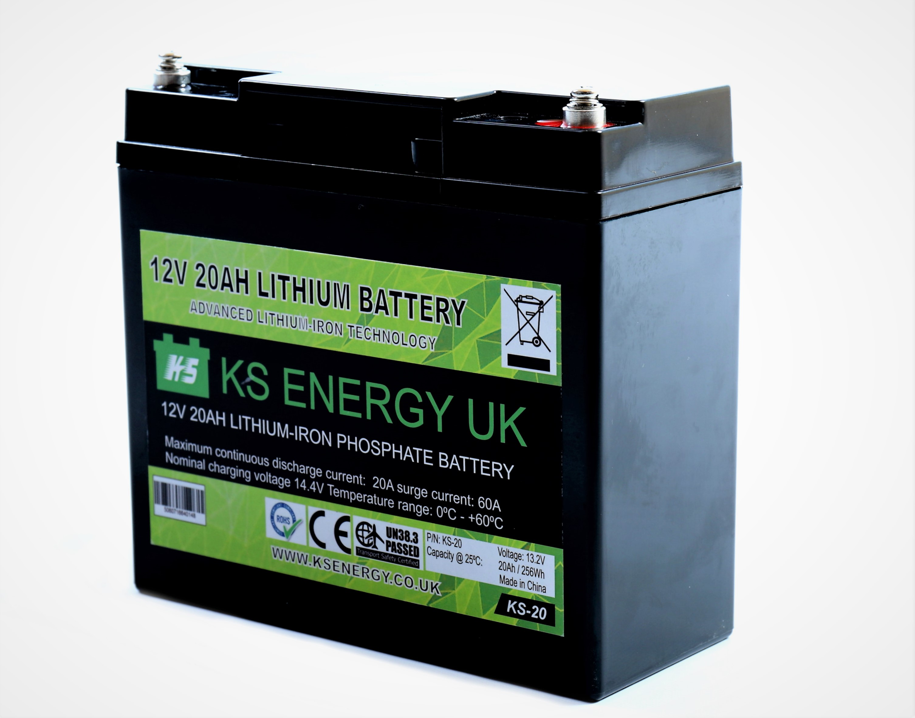 8): KS-20 12v 20AH LiFePo4 lithium-iron LiFePo4 leisure battery